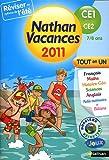 Nathan vacances - tout en un - du CE1 vers le CE2 : 7/8 ans