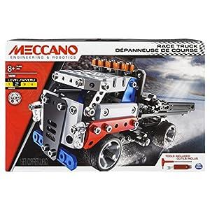 MECCANO Race Truck - Juegos de construcción (Juego de construcción de Varios Modelos de vehículos, 8 año(s), 285 Pieza(s), Negro, Azul, Rojo, Blanco)