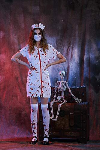 Ruanyi Halloween Horror Krankenschwester Kostüm COS Kleidung Weibliche Krankenschwester Kleidung männlichen Arzt Kleidung für Frauen (Color : Woman, Size : M)