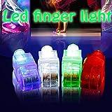4 X Farbe LED Party Hell Finger Lichter Ring Leuchtende Fackel - Multi, 12 Stück