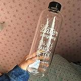 600/1000ML bottiglia di plastica bere succo tazza salvagoccia sport portatile bottiglia d' acqua per campeggio ciclismo viaggio, Random, 1000 ml