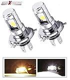 #9: AllExtreme Premium Quality HJG H4 High Brightness Cob 9W 900Lm 12V LED Head Lamp Bulb for Cars (Pack of 2)