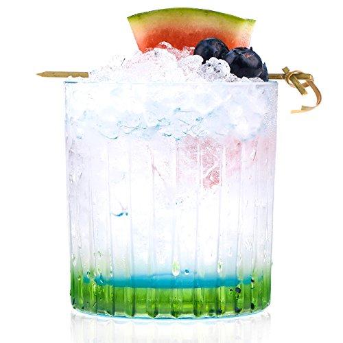 RCR 26323020006 Gipsy Crystal Short Whisky Water Tumblers Glasses, 360 ml, Set of 6, Green Crystal Water Tumbler