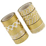 #5: Magideal 10x Gold Series Washi Sticky Paper Masking Adhesive Tape Scrapbooking DIY