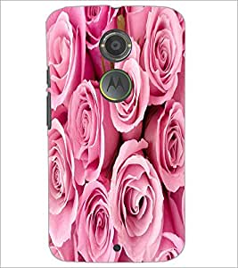 PRINTSWAG PINK FLOWERS Designer Back Cover Case for MOTOROLA MOTO X2