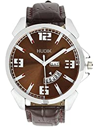 HUDIK Analogue Brown Dial Day & Date Men Watches/Watches For Men/Wrist Watches For Men/Boy's Watch/Watches For...