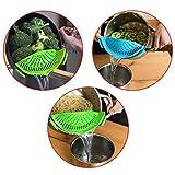 DaKuan mit Sieb, 2Stück hands-free clip-on hitzebeständig Abtropfsieb mit Auslauf-Nudeln Pasta-Kochtopf mit Pfanne