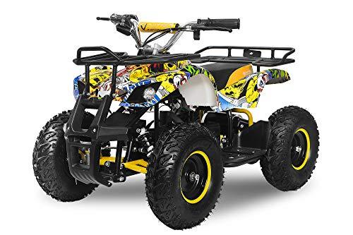 "Elektro Kinderquad Torino 1000W 48V 6\"" Miniquad Quad ATV Bike (Grün-Grau)"
