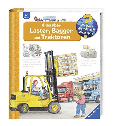 Alles über Laster, Bagger und Traktoren (Wieso? Weshalb? Warum?, Band 38) (Buch über Autos Für Kinder)