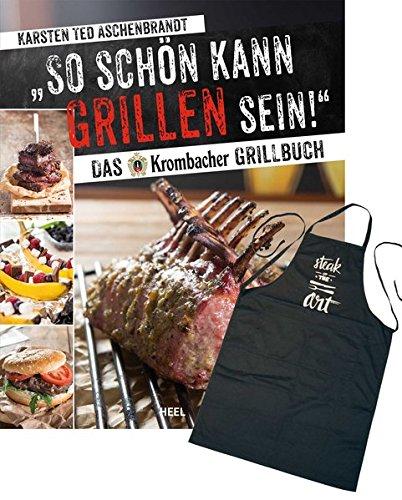 Preisvergleich Produktbild So schön kann Grillen sein: Das Krombacher Grillbuch - Set: Buch & Grillschürze