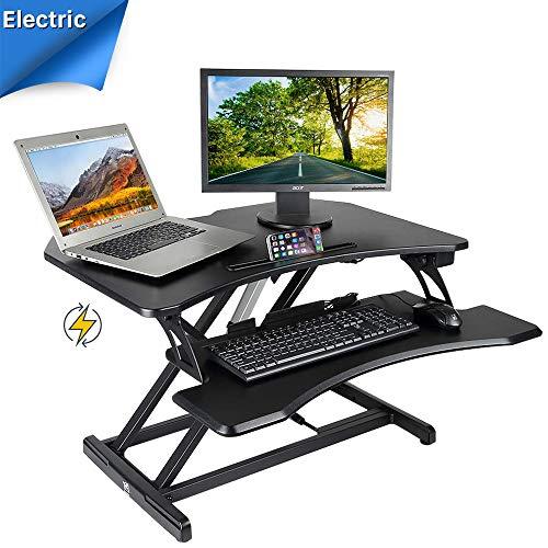 Kranich Höhenverstellbarer Schreibtisch Elektrisch Steharbeitsplatz Monitorständer Sitz-Steh-Schreibtisch Sit-Stand Workstation - Höhe Workstation
