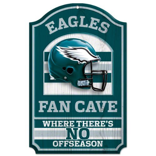 Wincraft Holzschild NFL Fan Cave 28 x 43 cm, Philadelphia Eagles, One Size Fits All -