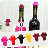 #7: Silicone Vacuum Sealed Wine Bottle Stopper Cowboy Hat Shaped Wine Stopper (Random colors will be sent)