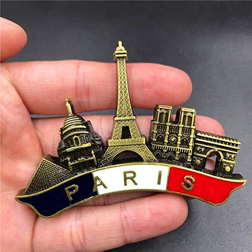 Praga Par/ís Venecia Dubai Tailandia /Ámsterdam Roma regalo de recuerdo Imanes decorativos de metal para nevera Barcelona