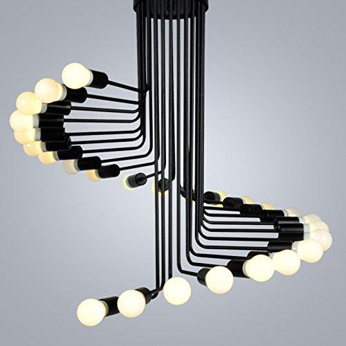 BBSLT Scale a chiocciola ferro battuto lampadario , usato  Spedito ovunque in Italia