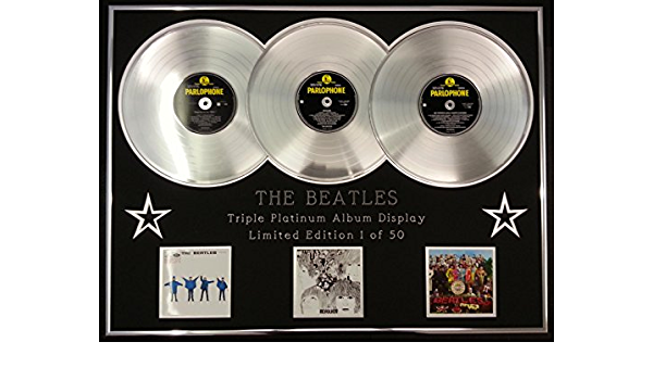 The Beatles Dreifach Platin Album Anzeigen Limitierte Edition Coa Help Revolver Sgt Peppers Küche Haushalt