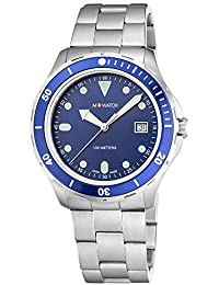 M-WATCH Aqua Steel 41 Analog Blue Dial Men's Watch-WBX.31240.SJ