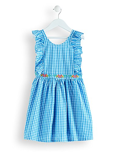 RED WAGON Girl's Embroidered Cotton Gingham Dress