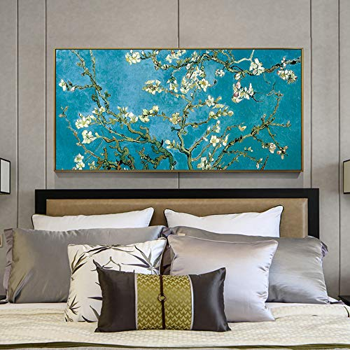 W15Y8 Pinturas Flor Almendro Pared Van Gogh Impresionista