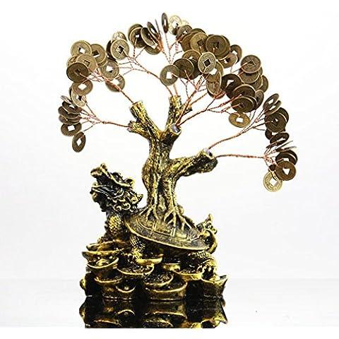 Du lijun 2016 Mestieri di business creativo regalo Ornamenti della resina acqua soldi albero . sa120 dragon turtle
