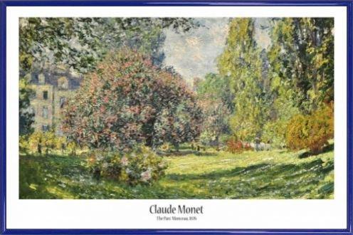 Park Rahmen (Claude Monet Poster und Kunststoff-Rahmen - Der Monceau-Park, 1876 (91 x 61cm))