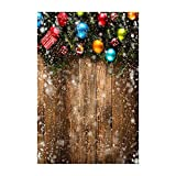 ODJOY-FAN Weihnachten Hintergrund Tuch, Schneemann Hintergründe Vinyl 3x5FT Laterne Hintergrund Studio 3D Fotografie Hintergrund Hintergrund Fotostudio (90x150cm) (I,1 PC)