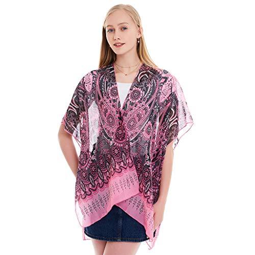 QIMANZI Mode Elegante Schal Damen Weich Chiffon Tücher für den Abend Kleider Mode Schals Wraps(A Rot) (Extra Kunststoff-wrap Breite)