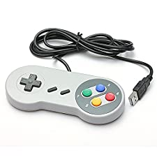 SNES USB Famicom Colored Super Nintendo Style Controller for PC/MAC