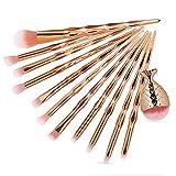 Watopi 12Pc Pinceaux De Maquillage Poudre Fond de Teint Ombre À Paupières Eyeliner Pinceau Cosmétique