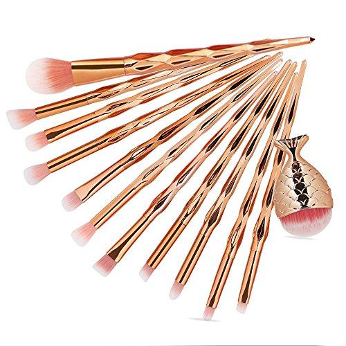 DaySing Brosse SynthéTique Fusion De Fond De Teint Concealer Eye Visage Liquide Poudre CrèMe12Pc Pinceaux De Maquillage Pinceau CosméTique De La Base De Poudre Fard à PaupièRes