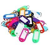 Milopon Porte-Clés avec étiquette en Plastique Clé Panneaux pour Clé Cadeau Couleur Aléatoire 100pcs