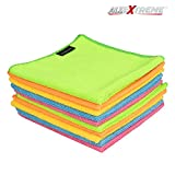 #9: AllExtreme Microfiber Cleaning Towels Super Absorbent Dust Cloth for Lint Free and Streak Free Cleaning of Automobile, Glass, Kitchens, Bathrooms and Furniture (40 x 40 cm, 10 Pcs)