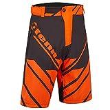 Tenn-Outdoors Herren MTB Graffiti Shorts–Schwarz/Orange–LRG