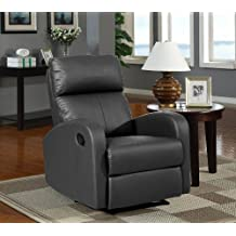 Sillon relax reclinable, color negro due-home