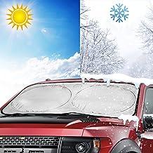 Parasol para Parabrisa Aomaso, Gran Pantalla Solar Plegable para Parabrisas Delantero y Trasero, Cubierta Protectora contra Rayos Ultra Violetas