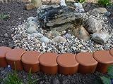 Gartenpalisade Midi in Terracotta