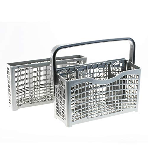 2 in 1 universal Besteckkorb geeignet für ALLE Spülmaschinen Geschirrspüler | teilbar | Maße: [22,5 x 8,3/4,5 x 21,2cm] | aus hitzebeständigem Kunststoff von CleanMonster