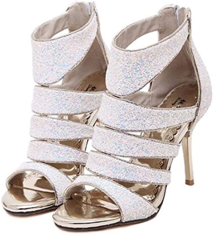 Zapatillas Sandalias Zapatos  Sandalias de Mujer Sandalias de       tacón Alto     Zapatos de Mujer de Banquete...