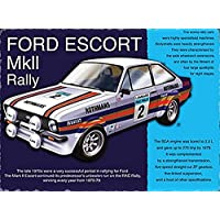 Metal Sign - Ford Escort MK2 RS Plaque métal - Metal Sign - XXX15488 - S