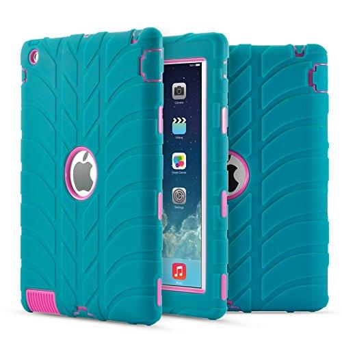 3 Hülle, iPad 4 Hülle, Fisel Reifen-Design, dreilagig, robust, stoßfest, Hybrid, Kratzfest, stoßfest ()