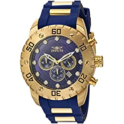 Invicta Men's 'Pro Diver' Quartz Stainless Steel and Polyurethane Casual Watch, Color:Blue (Model: 20280)