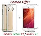 #4: YuniKase ( COMBO OFFER ) Mi Y1 / Xiaomi Mi Y1 / Redmi Y1 / Mi Redmi Y1 / Xiaomi Redmi Y1 / MiY1 / RedmiY1 / Xiaomi Mi Y1 Y One - Original Sleek Premium Transparent Clear Soft Back Cover Case - Premium Tempered Glass Screen Protector - ( Transparent )