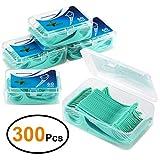 EFANTUR Fil Dentaire 300 PCS Porte-fil Dentaire, Lot de 5 dental floss la poignée HIPS confortable...
