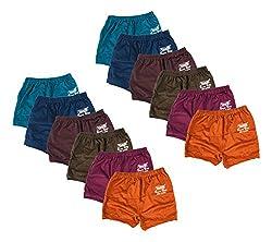 YASIQ Girls Panty, Set of 12 (MRBGIPRDPYASIQ(6-7)12, Multi-Coloured, 6-7 Years)