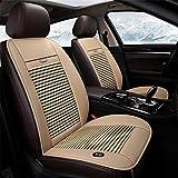 ZUOR Estate Raffreddamento Auto Coprisedili 3 ventole Single Cold Pad 12V Pad di Raffreddamento per Cuscini Auto Cool Down Cuscino del Sedile Ventilato,Beige