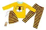 Sigikid Jungen Zweiteiliger Schlafanzug Pyjama, Mini Gelb (Citrus 825), 98