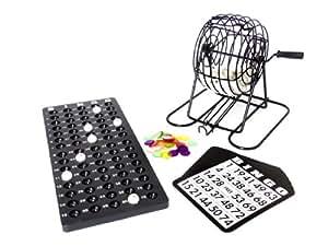 BINGO loto cage métal avec billes, pions, cartes et boulier - GK220