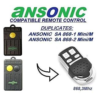 ANSONIC SA 868–1Mini/M, ANSONIC SA 868–2Mini/M kompatibel Fernbedienung/Clone, 4-canali 868,3MHz Fixed Code Ersatz Fernbedienung.