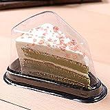 iBàste 100 pz Trasparente plastica da asporto Triangolo Torta Formaggio Sandwich per Alimenti Contenitore/Scatola da Trasporto