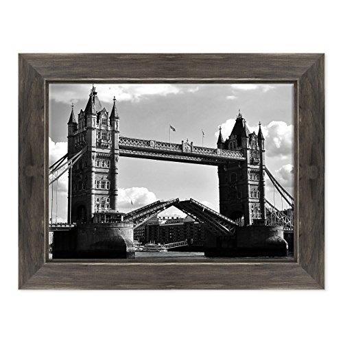 Bild auf Leinwand Canvas-Gerahmt-fertig Zum Aufhängen-Tower Bridge London-UK London England Dimensione: 50x70cm D - Colore Nero Shabby - Camden Esszimmer-möbel